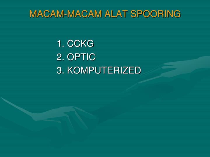 MACAM-MACAM ALAT SPOORING
