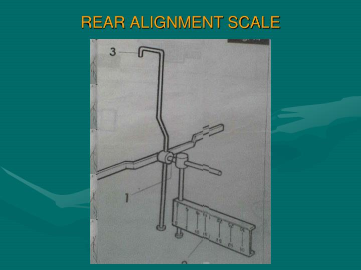 REAR ALIGNMENT SCALE