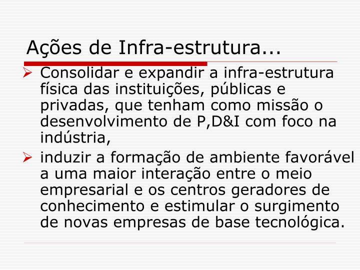 Ações de Infra-estrutura...