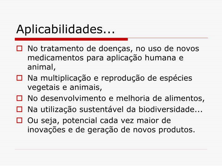 Aplicabilidades...