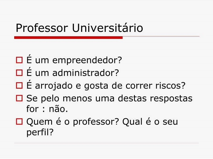 Professor Universitário