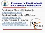 programa de p s gradua o em ci ncias farmac uticas