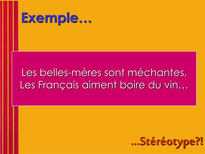 Exemple…