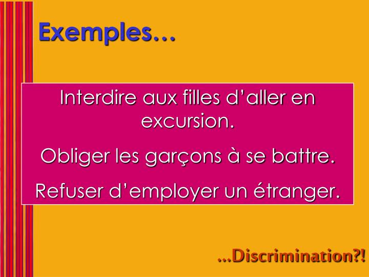 Exemples…