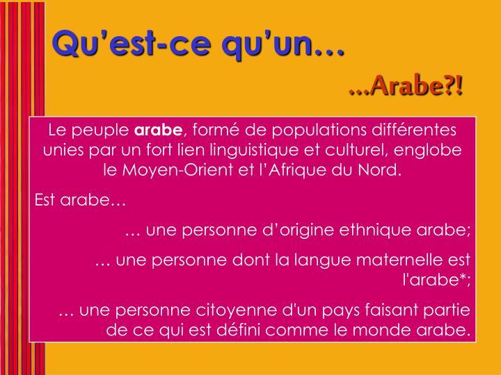 …Arabe?!