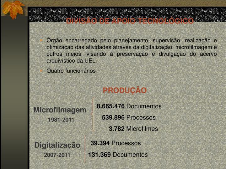 DIVISÃO DE APOIO TECNOLÓGICO