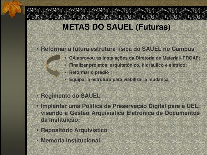 METAS DO SAUEL (Futuras)