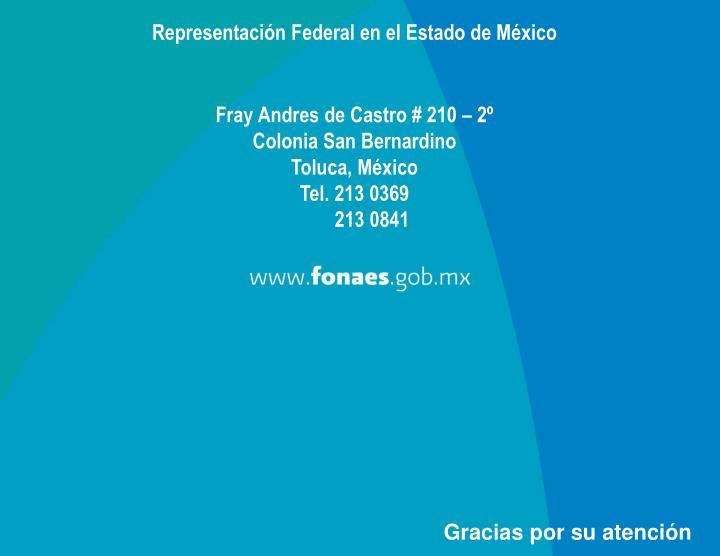 Representación Federal en el Estado de México