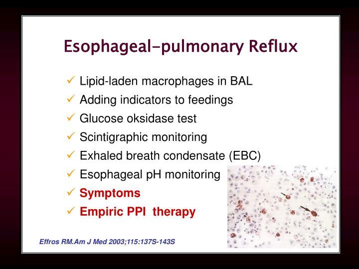 Esophageal-pulmonary Reflux