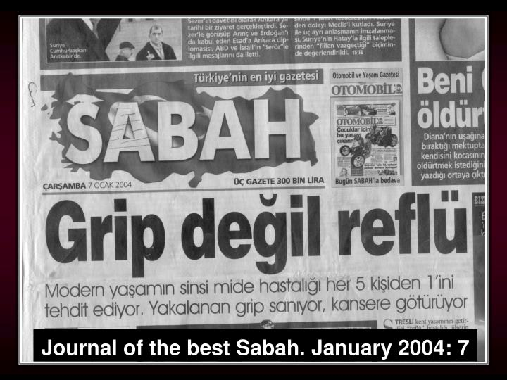 Journal of the best Sabah. January 2004: 7