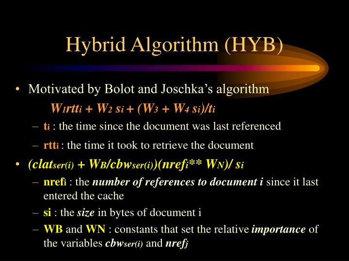 Hybrid Algorithm (HYB)