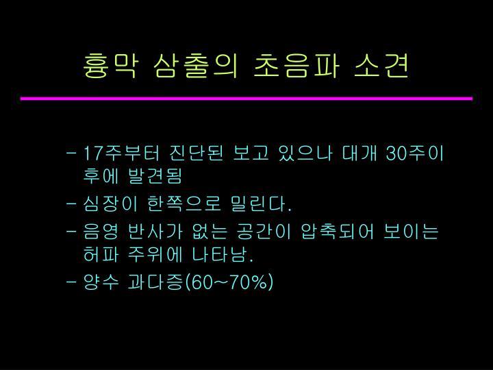 흉막 삼출의 초음파 소견