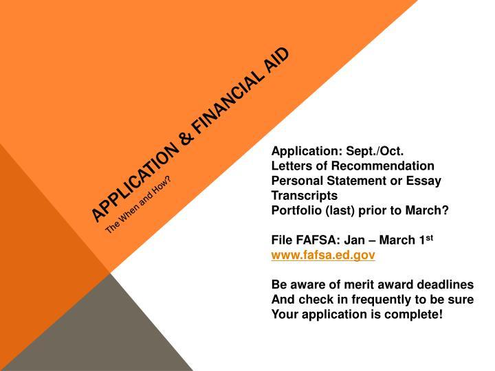 APPLICATION & Financial Aid