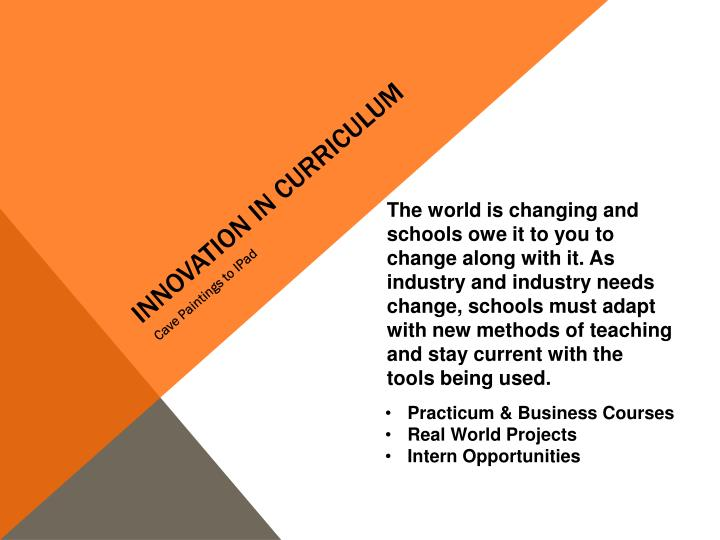 Innovation in Curriculum