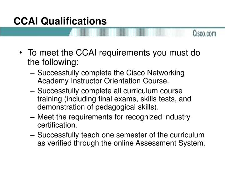 CCAI Qualifications