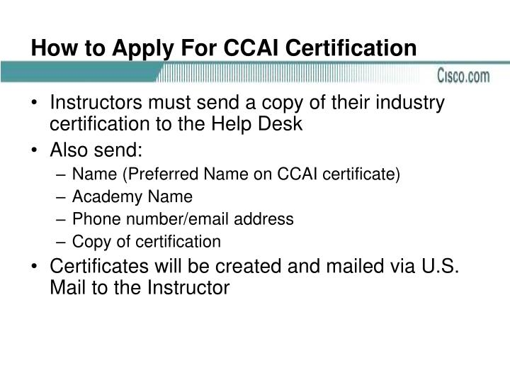 How to Apply For CCAI Certification