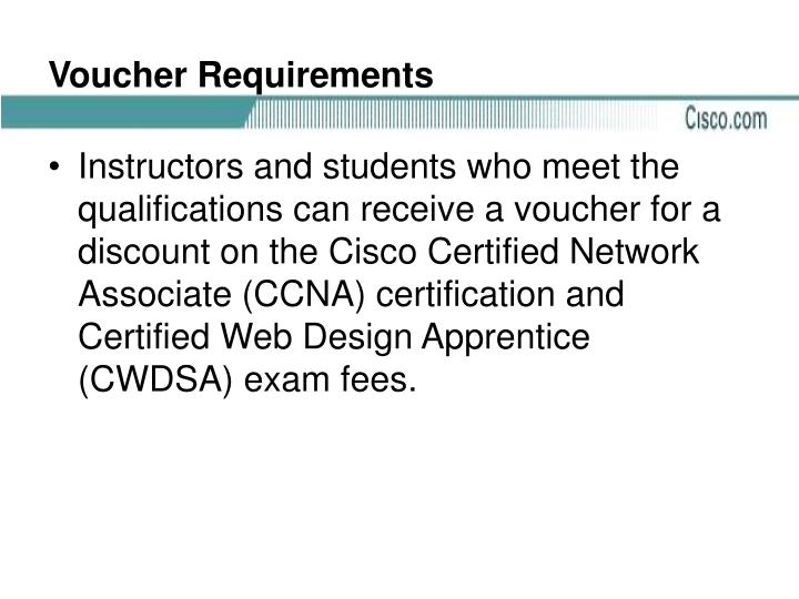 Voucher Requirements