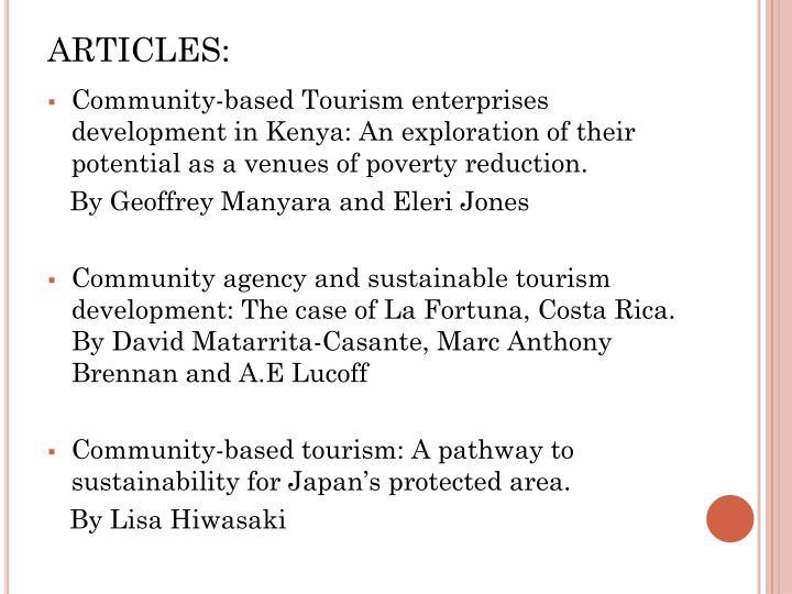 ARTICLES: