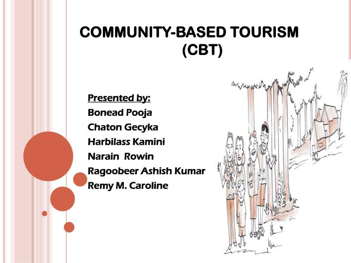 Community based tourism cbt