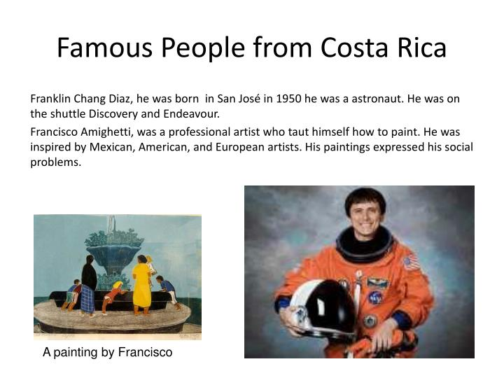Famous People from Costa Rica