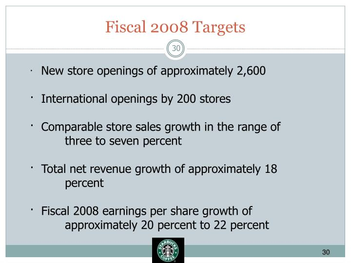 Fiscal 2008 Targets