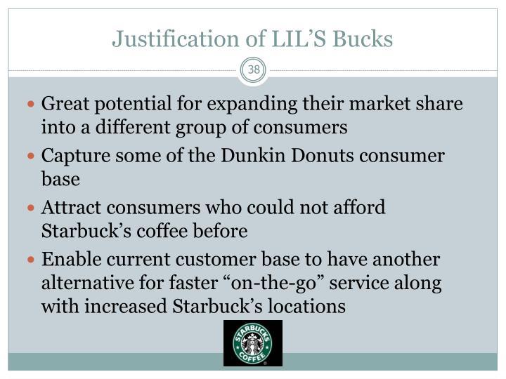 Justification of LIL'S Bucks
