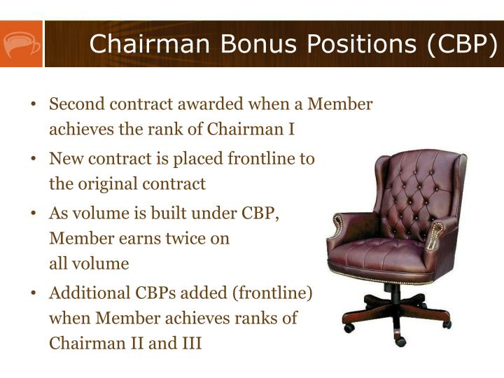 Chairman Bonus Positions (CBP)