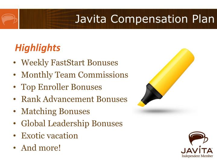 Javita Compensation Plan
