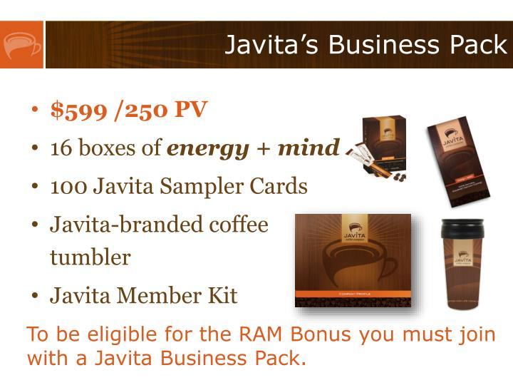 Javita's Business Pack