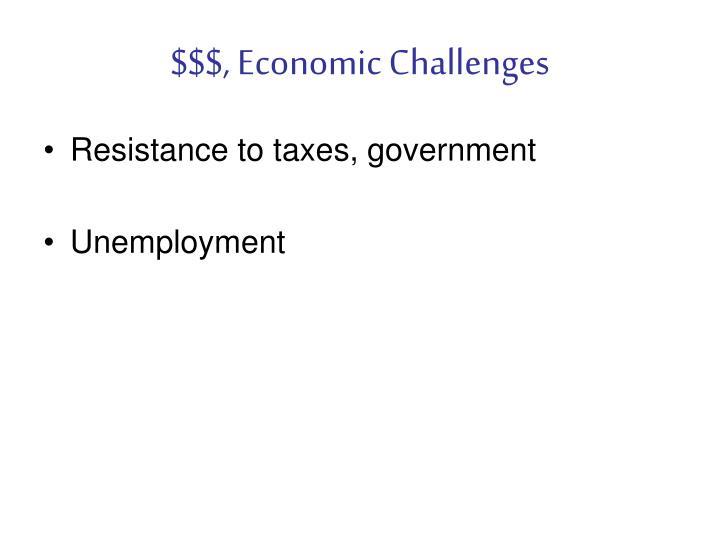 $$$, Economic Challenges