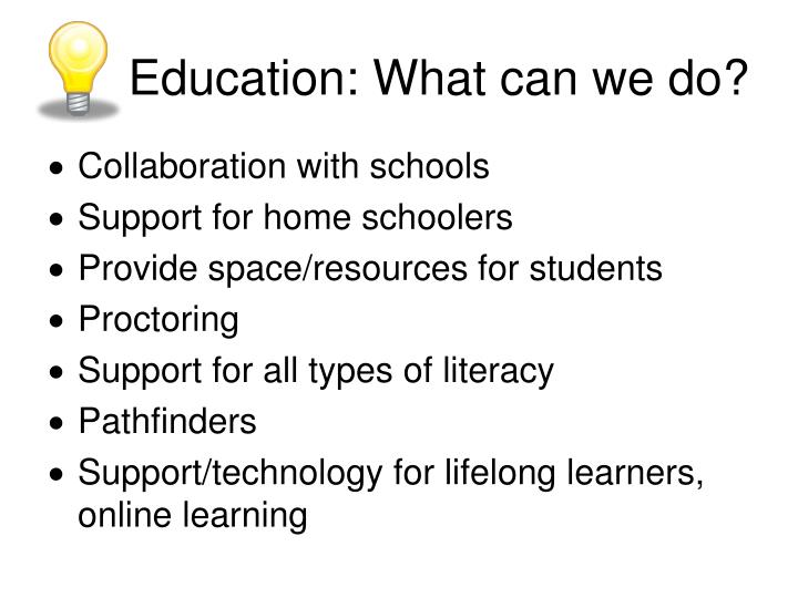 Education: What can we do?