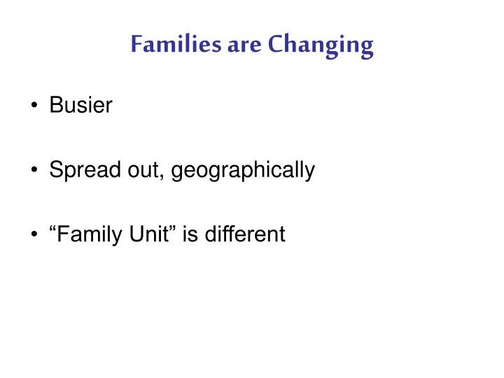 Families are Changing