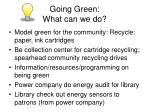 going green what can we do