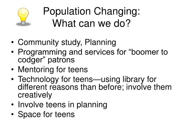 Population Changing: