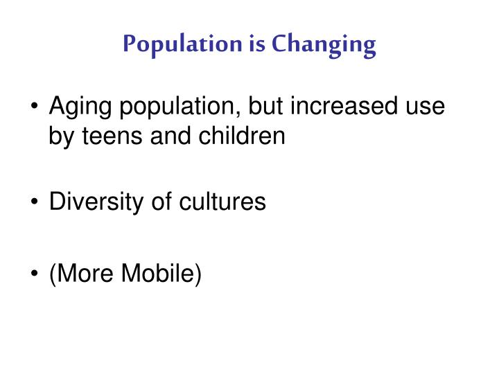 Population is Changing