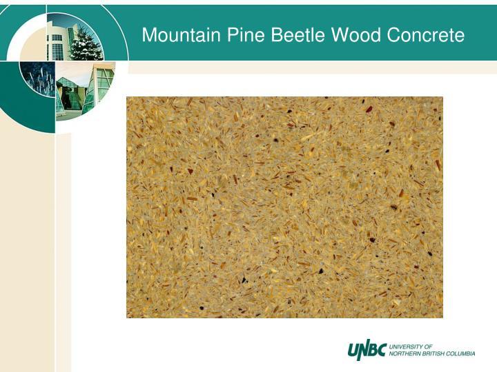 Mountain Pine Beetle Wood Concrete