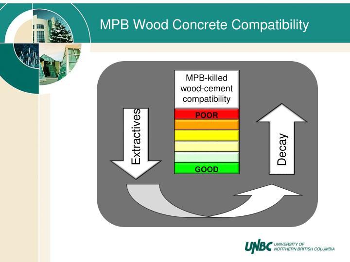 MPB Wood Concrete Compatibility