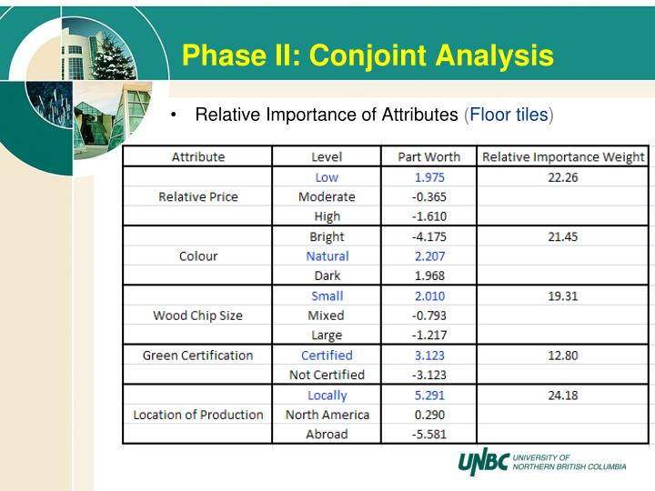 Phase II: Conjoint Analysis