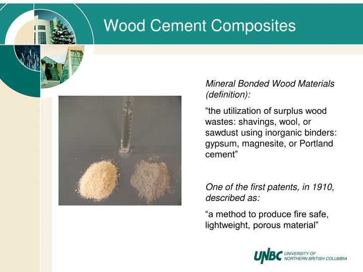 Wood Cement Composites