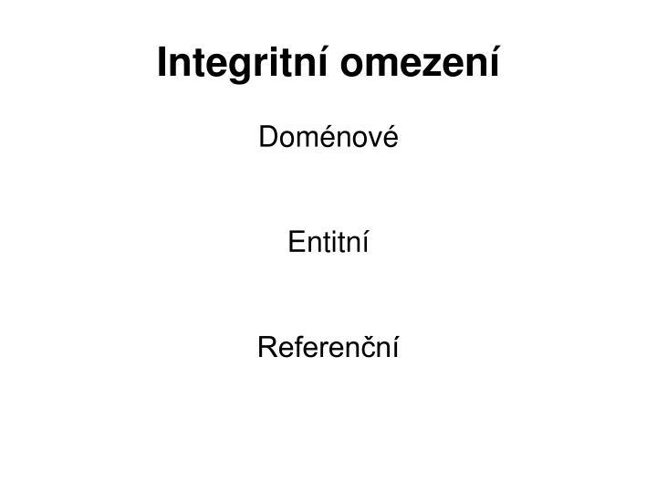 Integritní omezení