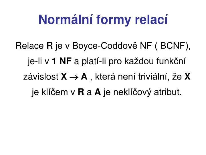 Normální formy relací
