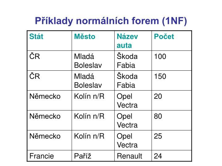 Příklady normálních forem (1NF)