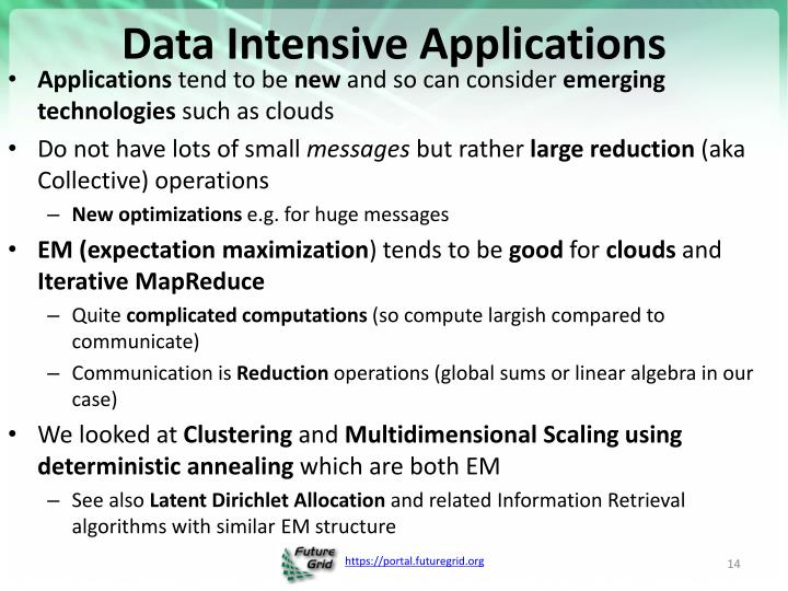 Data Intensive Applications