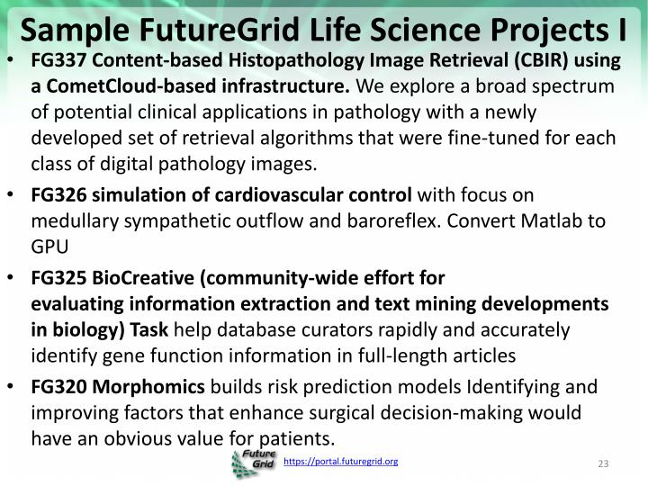 Sample FutureGrid