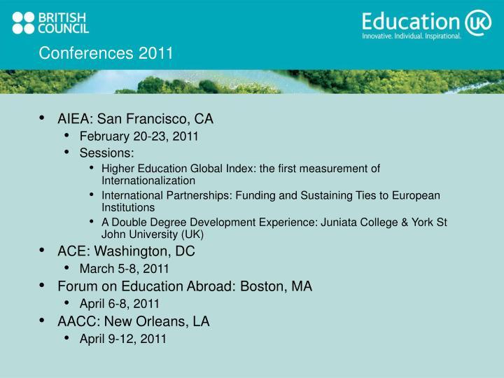 Conferences 2011