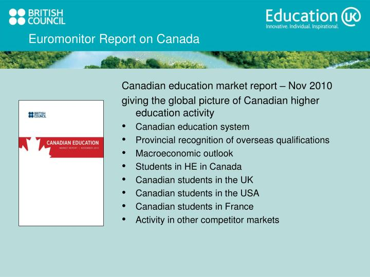 Euromonitor Report on Canada