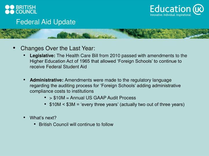 Federal Aid Update
