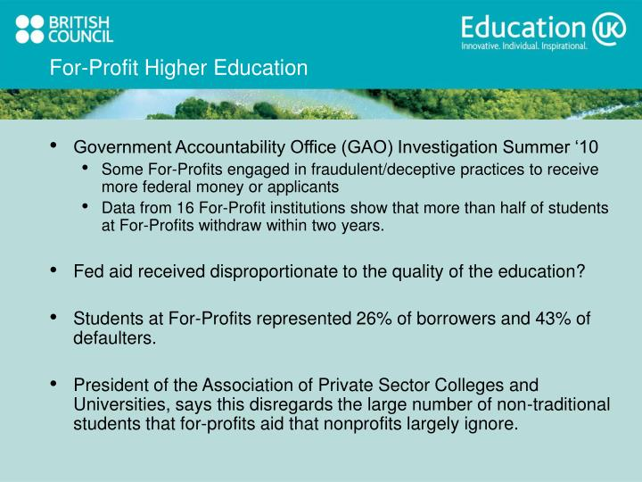For-Profit Higher Education
