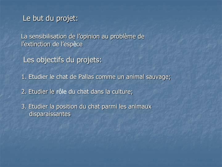 Le but du projet