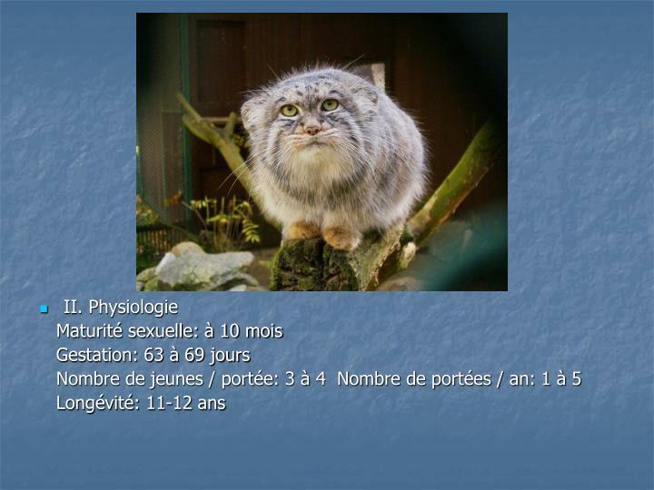 II. Physiologie